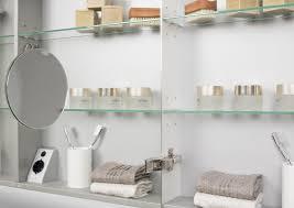 Spiegelschrank 110 Cm Led Beleuchtung Doppelseitig Verspiegelt