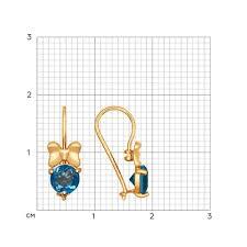 <b>Серьги</b> «<b>Бабочки</b>» из золота с синими топазами <b>SOKOLOV</b> ...