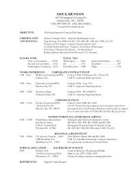 Pilot Resume Template Word Pilot Resume Examples Examples Of Resumes 15