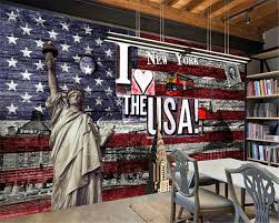 liberty bedroom wall mural: custom wallpaper d free statue american flag fresco living room bedroom tv sofa background wallpaper for