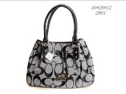 Classic Coach Legacy In Signature Medium Grey Shoulder Bags FJ1527