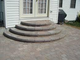 circular paver stairs