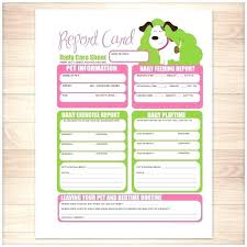 Pet Sitter Information Form Pet Report Card Template Dog Walking Along Sitting Forms New