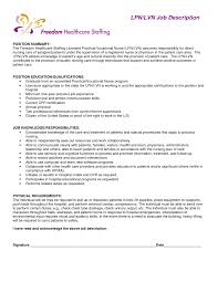 Lpn Job Responsibilities Resume Lpn Job Description For Resume Resume Examples 60 2