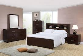 Queen Size Bedroom Suite Coaster Jessica Queen Platform Bed With Rail Seating And Lights