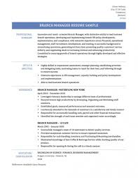 Resume Templates Retail Bank Brancher Sample Samples Assistant Bank