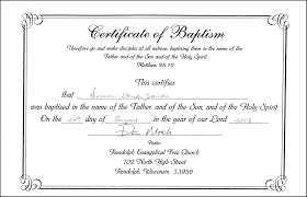 Baptism Certificate Wording Drabble Info