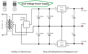 schematic voltage regulator the wiring diagram circuits > dual voltage power supply 12 volt l31752 next gr schematic