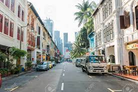 Chinatown. Walk Through The Chinatown Streets In Singapore Stock Photo,  Picture And Royalty Free Image. Image 122541632.