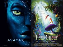 "avatar"" vs ""ferngully the last rainforest"" a case of  although"