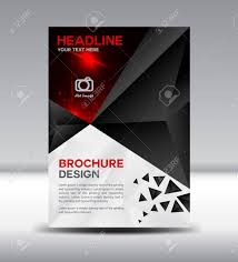 Leaflet Design Portfolio Black Brochure Cover Design Magazine Template Leaflet Design
