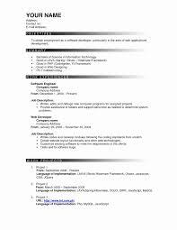 Mca Fresher Resume Format Awesome Sample Resume For Freshers B