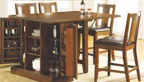 kitchen island table with chairs. Simple Kitchen Kitchen Island Dark Oak Finish Counter Height 5 Piece Table Set By Acme   10232 Intended With Chairs E