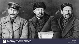 lenin and stalin josef stalin right vladimir lenin center and mikhail kalinin right