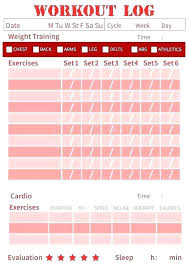 Fitness Journal Template Food Diary Just Made This Workout Log