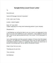 Cover Letter Entry Level Engineer