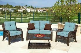 weatherproof outdoor furniture good waterproof wicker with cushions