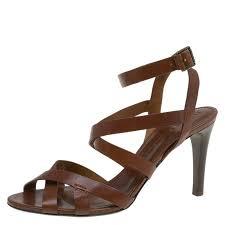 burberry brown leather strappy sandals size 40 nextprev prevnext