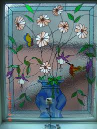 decorative leaded design in stair window