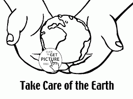 Small Picture Take Care of the Earth Earth Day coloring page for kids