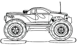 Monster Truck Coloring Pages Printable Grave Digger Coloring Page