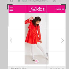 Fabkids Size Chart Red Lace Holiday Baby Doll Dress Size 6 7