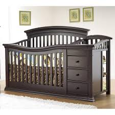 All In One Crib Convertible Crib With Changing Table Attached Thebangups Table