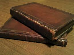 two old leather bound books