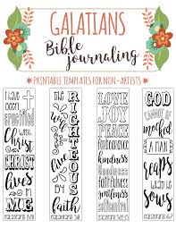 Art For Non Artists Galatians Printable Bible Journaling Templates For Non Artists