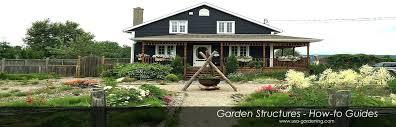 outdoor garden structures wooden
