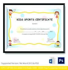 Kids Award Certificate Certificate Of Achievement For Kids Printable Kindergarten