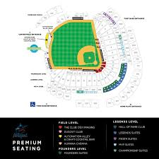 Marlins Stadium Seating Chart Marlins Park Suites Miami Marlins