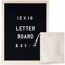 12 X 16 Inch Black Felt Changeable Letter Board With 290 Letters Characters Numbers Word Bulletin Board Wooden Message Sign For Menu Or Office