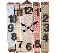 large rustic wood slat wall clock vintage wall clock large wall clock