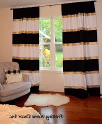 photo 8 of 9 custom black white and gold striped curtains color blocked nursery curtains striped