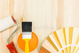 painting tools and accessories for home renovation stock image image of diffe paint