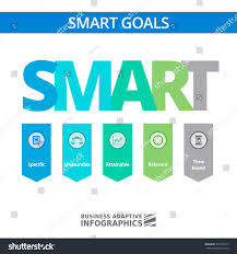 Smart Goals Setting Strategy Infographic Business Stock