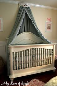 DIY Bed Crown and Crib Canopy