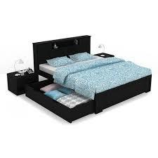 Hard Wood Queen Size Designer Double Bed - Wooden Double Beds - Bedroom  Essentials - Beds