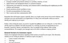 Business Report Example Examples For Students Of Template Current