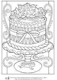 Free Printable Adult Coloring Pages Wedding Cake Colouring Book