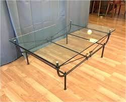 new wrought iron glass coffee table design tables