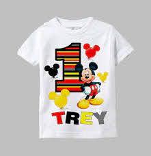 Mickey Mouse Birthday Shirt - Mickey ...