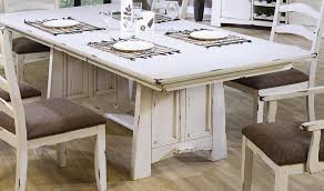 distressed white dining table great room tables square on 2 within