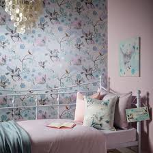 Pink Wallpaper For Bedrooms Girls Chic Wallpaper Kids Bedroom Feature Wall Decor Various