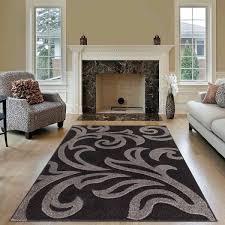 modern area black grey rug for living room