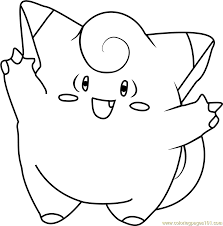 Small Picture Clefairy Pokemon Coloring Page Free Pokmon Coloring Pages