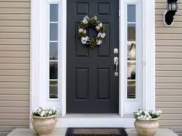 exterior front door. elegant exterior front door with black and white paint also beautiful flowers wreath couple narrow