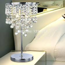 crystal bedroom lamps nice bedside new modern luxury table lamp with lampshade chandelier lighting bed