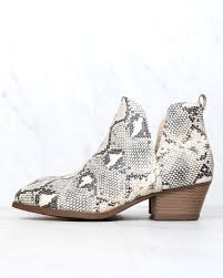 Chinese Laundry Shoe Size Chart Chinese Laundry Caring Snake Print Ankle Booties